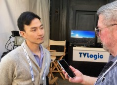 TVLogic sales manager, Jin Lee, with Jay Ankeney of The Broadcast Bridge