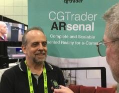 CGTrader's Michael Swack talks with Jay at their exhibit