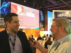 Adobe's group product manager, Steve Forde, being interviewed by Jay Ankeney of The Broadcast Bridge.