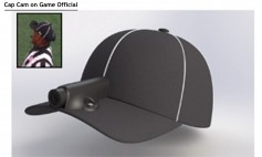 The RefCam units being used at NCAA college football games consist of an integrated video camera and transmission units integrated into the referees' hats.