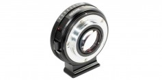 Figure 17: Metabones F-mount to MFT-mount adaptor provides smooth aperture control