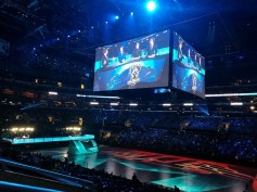 L. A.'s Staples Center was used for the 2016 League of Legends World Championship finals.<br />