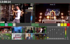 Cinegy Live portable video switcher that can input IP, SDI or file video and mix between them