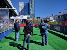 Broadcast crews filled the RF spectrum with signals during the run up to Super Bowl LI.