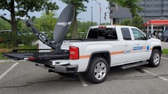 LiveU drove their new Global IP demonstration truck to TV stations across the US.<br />