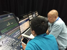 Lou Wei (right), chief audio engineer, has been in charge of acquiring and processing 5.1 surround sound and broadcasting it since the series' first season.