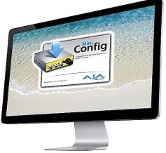 The free AJA Mini-Config software allows complete control of USB-enabled AJA Mini-Converters via a single USB connection to a Mac or PC computer.