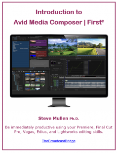 Steve Mullen's tutorial on Avid Media Composer | First is available at no cost from the link in the report. Click to enlarge.