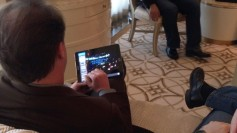 The UHD demonstration highlighted the benefits of IP showing live playback of the broadcast signal on a tablet.