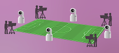 Overcam can be used to shoot a game by itself, or integrated into a larger production.