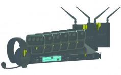 The CrewCom wireless intercom system.