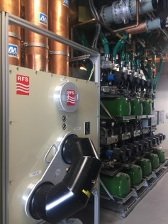 An installation of a 110kW compact RF switching system.