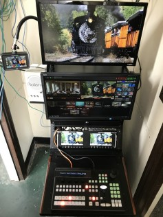 Datavideo equipment rack originally designed for an OB truck fits NewTV's limited space needs