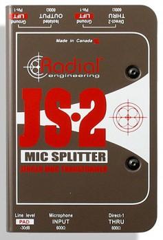 Radial JS-2 mic splitter