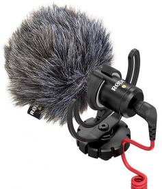 Rode VideoMicro with furry wind shield