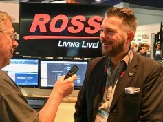Jay Ankeney of The Broadcast Bridge interviewing Ross Video's Andrew Faulkner, vp of corp, marketing