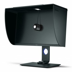 The hardware calibration process on the SW271 is shielded from ambient light by the monitor's own sun screen hood