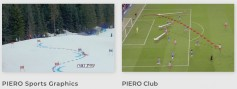 PIERO Sports Graphics helps visualize sports with real time graphics, and PIERO Club is a 3D graphics system for visualizing game strategy