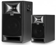 JBL 7 Series speakers, 8-inch 2-way 708P left and 5-inch 2-way 705P right. Click to enlarge.