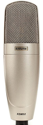 Shure KSM32 has a frequency response with presence peaks at 7kHz and 10kHz, which makes it good for vocals.