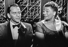 Frank Sinatra and Ella Fitzgerald sing into RCA BK-5As.