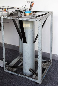 A sound proof chamber used to measure the self-noise of microphones.