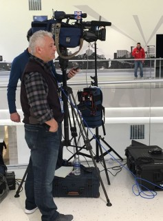 LiveU customers standby for a live shot at last year's Super Bowl LII in Minneapolis.