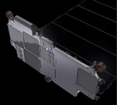 Starlink satellites have 4 antennas, allowing an enormous amount of throughput to be placed and redirected in a short time. Courtesy Starlink.