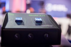 Close-up of Studio Technologies Model 214 announcer's console at ESL's studios (photo credt: Helena Kristiansson).