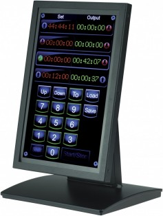 The IPE TS5 Touchscreen device was demonstrated driving seven screens plus camera control
