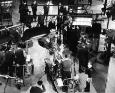 British TV studio, circa 1950s