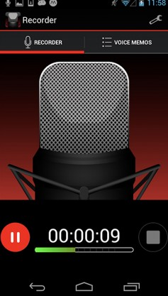Voice Recorder HD app