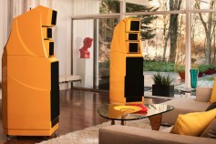 "Those with sufficient funds may choose to have their loudspeakers, size-wise, overwhelm the listening room. These yellow monster-size speakers may remind some readers of the surrogate guardian robot in the 1960's American TV series, Lost in Space. When impending threats were about, the robot would say to the young boy, ""Danger Will Robinson."" Image: Gear Patrol."