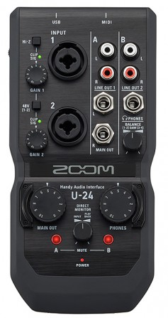 Zoom U-24 Audio Interface.