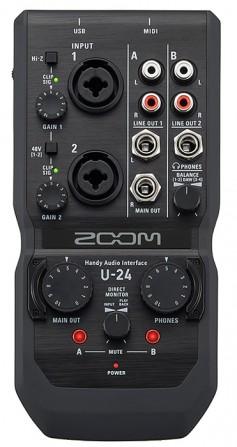 Zoom U-24 Audio Interface.