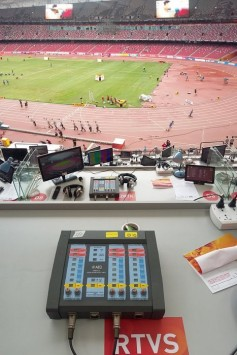 AEQ digital commentary unit position for Slovenian broadcaster RTVS.