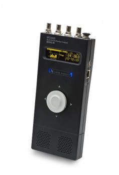 A bright OLED display on the Linear Acoustic MT2000 provides channel signal levels and loudness and status updates at a glance. A combination jog wheel and navigation joystick provides complete control.