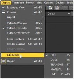 Four main editing modes and a live mode extend the software possibilities. Each mode is optimized for efficiency.