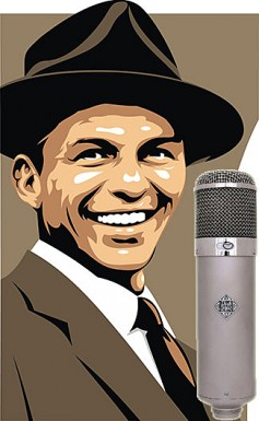 Frank Sinatra with his trusty