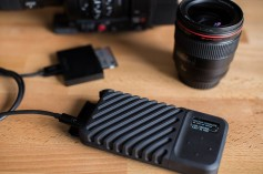 The gnarbox 2.0 mobile storage drive can transfer files wirelessly and also interfaces with Adobe Premiere Pro CC, Final Cut Pro X, Adobe Lightroom, and Dropbox.