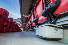 Under seat enclosures at last year's Super Bowl at Levi stadium provided Wi-Fi access for fans. This year's installation at NRG stadium is similar.
