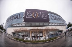 AT&T's conducted its first LTE Broadcast test in Arlington, TX's AT&T stadium, site of the 2015 national championship game between the Oregon Ducks and the Ohio State Buckeyes. Photo Credit: Jerome Miron-USA TODAY Sports.
